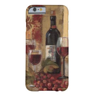 Coque Barely There iPhone 6 Bouteille de vin et verres de vin