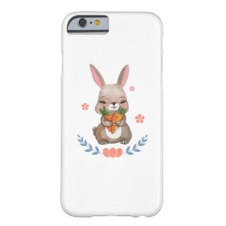 Coque Barely There iPhone 6 Cadeau des enfants de lapin de Pâques des femmes