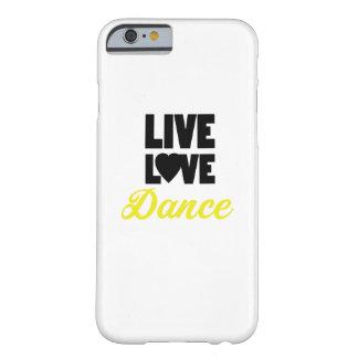 Coque Barely There iPhone 6 Cadeau vivant de danseur de danse de danse d'amour