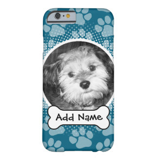 Coque Barely There iPhone 6 Cadre de photo d'animal familier avec les