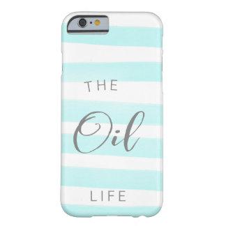 Coque Barely There iPhone 6 Caisse bleue et blanche d'huile essentielle de