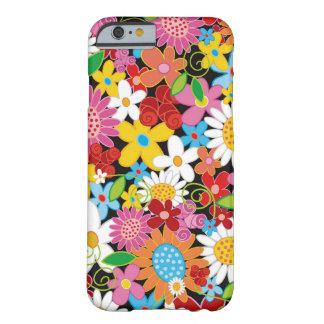 Coque Barely There iPhone 6 Caisse colorée de l'iPhone 6 de jardin de fleurs