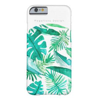 Coque Barely There iPhone 6 Caisse tropicale de feuille par conception de