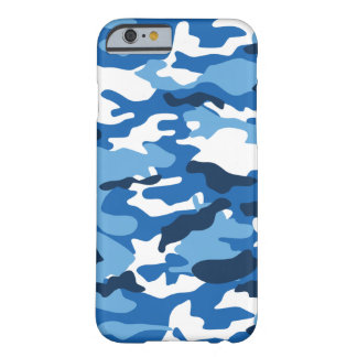 Coque Barely There iPhone 6 Caisse urbaine bleue de Camo iPhone6