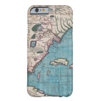 Coque Barely There iPhone 6 Carte antique de la Floride et du Cuba