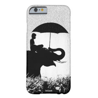 Coque Barely There iPhone 6 Cas de l'iPhone 6/6s d'art de pluie d'éléphant à