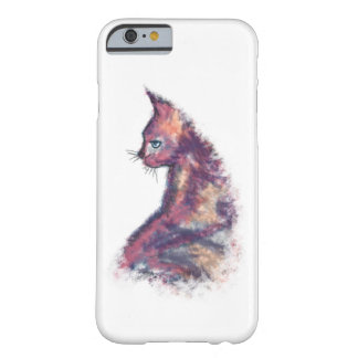 Coque Barely There iPhone 6 Cas de l'iPhone 6/6s de chat peint par aquarelle