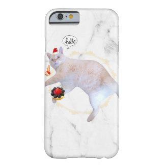 Coque Barely There iPhone 6 cas de marbre de téléphone de chat