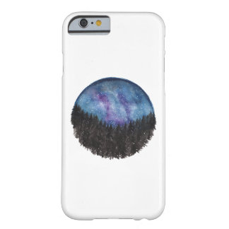 Coque Barely There iPhone 6 Cas de téléphone de forêt de galaxie