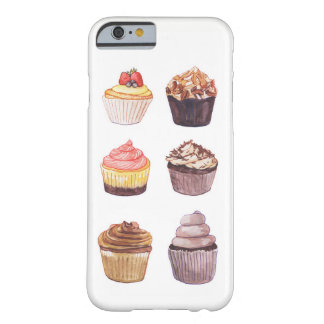 Coque Barely There iPhone 6 Cas de téléphone de petits gâteaux d'aquarelle