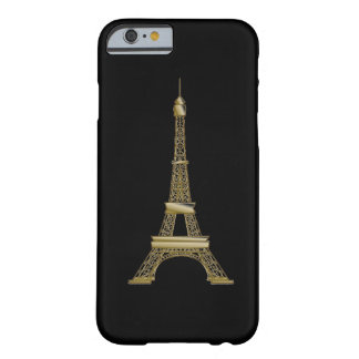 Coque Barely There iPhone 6 Cas français de l'iPhone 6 de Tour Eiffel de noir