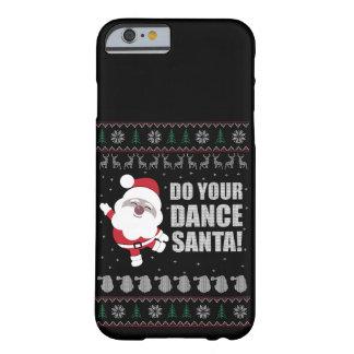 Coque Barely There iPhone 6 Cas laid de téléphone de Père Noël de chandail