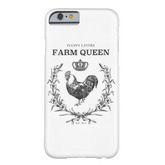 Coque Barely There iPhone 6 Cas pelucheux de téléphone de la Reine de ferme de