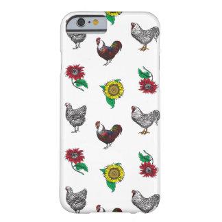 Coque Barely There iPhone 6 Cas pelucheux de téléphone de poules et de