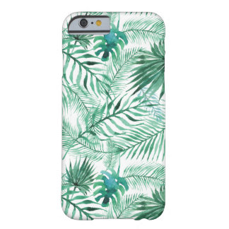 Coque Barely There iPhone 6 Cas tropical de l'iPhone 6 de motif de feuille de