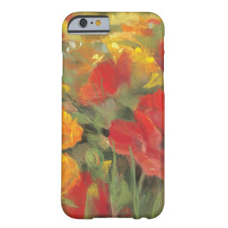 Coque Barely There iPhone 6 Champ de pavot oriental
