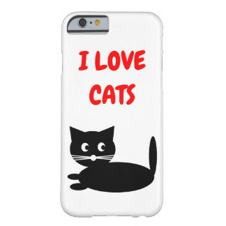 Coque Barely There iPhone 6 Chats drôles d'amour d'I