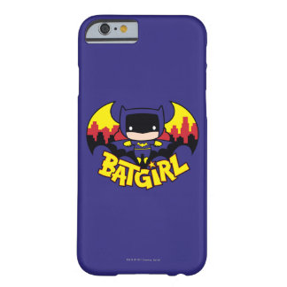 Coque Barely There iPhone 6 Chibi Batgirl avec l'horizon et le logo de Gotham
