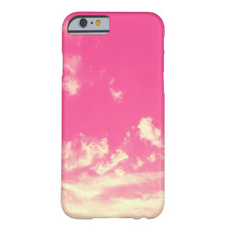 Coque Barely There iPhone 6 Ciel rose et nuages jaunes