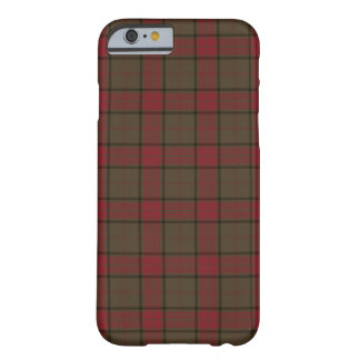 Coque Barely There iPhone 6 Clan Maxwell Brown et tartan écossais rouge de