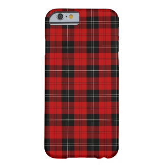Coque Barely There iPhone 6 Clan tartan noir et rouge de Ramsay