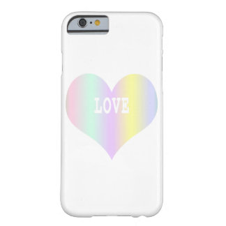 Coque Barely There iPhone 6 Coeur de pastel d'amour