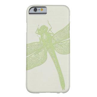 Coque Barely There iPhone 6 Conception de libellule emboutie grand par vert