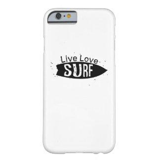 Coque Barely There iPhone 6 Conseil surfant de patineurs de surfers de plage