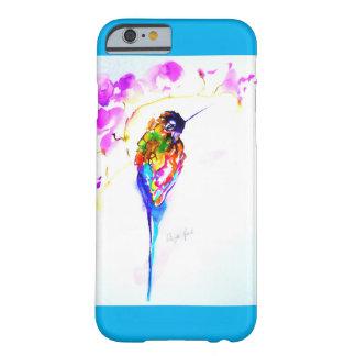 """Coque Barely There iPhone 6 Copie de colibri """"de perche violette"""" dessus"""