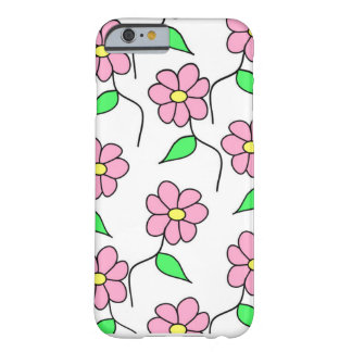 Coque Barely There iPhone 6 Couverture fleurie d'iPhone pour des filles