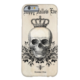 Coque Barely There iPhone 6 Crâne vintage moderne de Halloween avec la