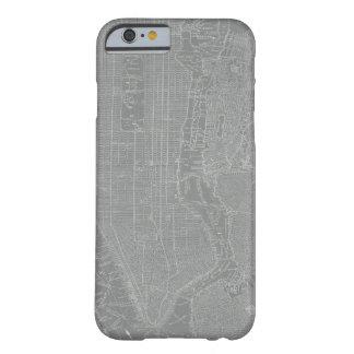 Coque Barely There iPhone 6 Croquis de carte de New York City