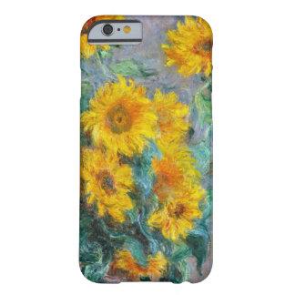 Coque Barely There iPhone 6 Cru de tournesols de Claude Monet floral