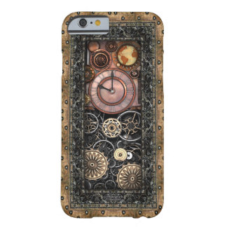 Coque Barely There iPhone 6 Cru infernal Steampunk de la montre #2B de