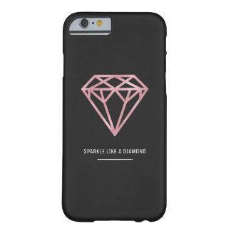 Coque Barely There iPhone 6 Diamant rose d'or