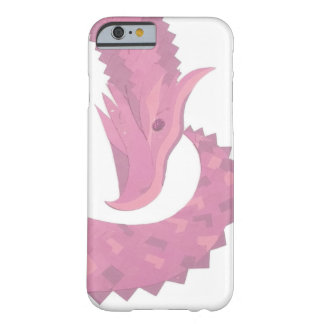 Coque Barely There iPhone 6 Dragon rose de coeur sur le blanc