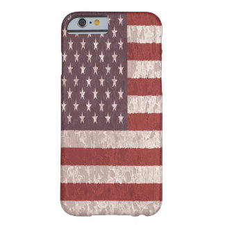 Coque Barely There iPhone 6 Drapeau américain vintage 5