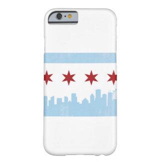 Coque Barely There iPhone 6 Drapeau de Chicago et cas de téléphone d'horizon