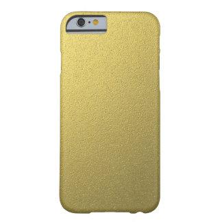 Coque Barely There iPhone 6 Effet métallique d'aluminium d'or