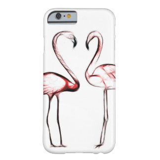 Coque Barely There iPhone 6 Flamant rose de flamants de pêche tropical