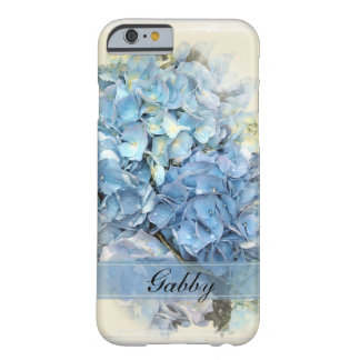 Coque Barely There iPhone 6 Fleurs bleues d'hortensia