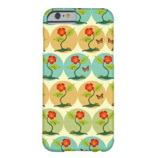 Coque Barely There iPhone 6 Fleurs et motif de bulles