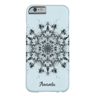Coque Barely There iPhone 6 Flocon de neige abstrait