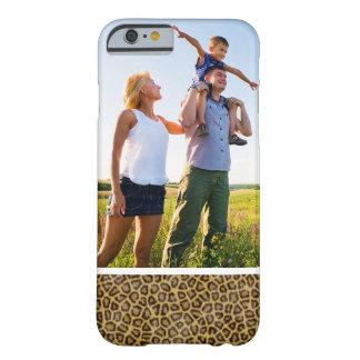 Coque Barely There iPhone 6 Fourrure faite sur commande de léopard de photo