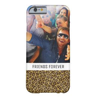 Coque Barely There iPhone 6 Fourrure faite sur commande de léopard de photo et
