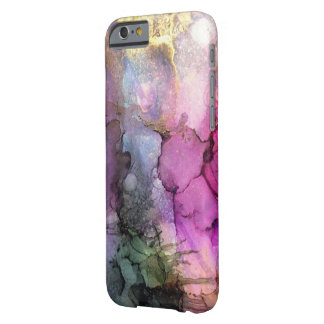 Coque Barely There iPhone 6 Galaxie - art abstrait d'encre