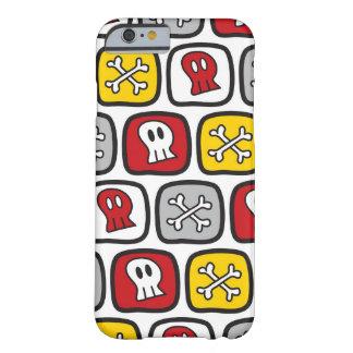 Coque Barely There iPhone 6 Garçons colorés d'amusement d'os de crânes de