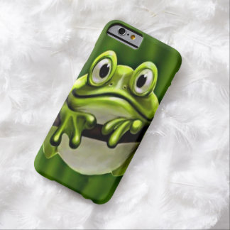 Coque Barely There iPhone 6 Grenouille verte mignonne drôle adorable dans