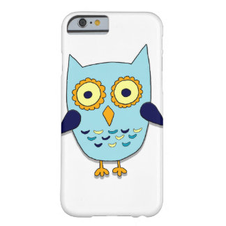 Coque Barely There iPhone 6 Hibou bleu