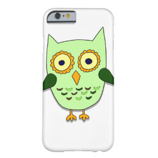 Coque Barely There iPhone 6 Hibou vert